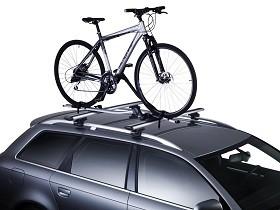 Fahrradträger montiert am Dach